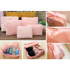 5 In 1 Pink Clothes Storage Bags Packing Cube Travel Luggage Organizer Bag