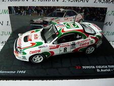 coche 1/43 IXO Altaya Rallye ITALIA : TOYOTA Celica turbo 4 WD 1994 Auriol