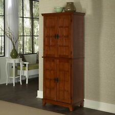 Kitchen Furniture Storage Pantry Cabinet Cupboard Wood Oak Mission Style Tall
