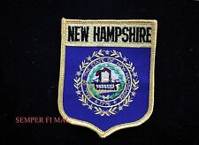 NEW HAMPSHIRE COLLECTOR EMBROIDERED SHIELD PATCH GRANITE STATE NEW HAMPSHIRITE