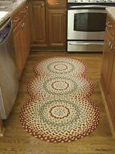 "Mill Village Braided Country Rug Runner by Park Designs - 30"" x 72"" Circles"