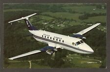 POSTCARD: COLGAN AIRWAYS - BEECH 1900C AIRLINER IN FLIGHT - BEECH AIRCRAFT CORP.