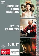 The House Of Flying Daggers  / Fearless  / Duelist (DVD,2007, 3-Disc Set)*R4*VGC
