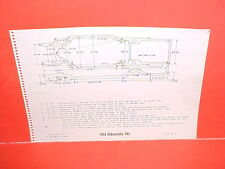 1964 OLDSMOBILE F-85 CUTLASS SUPREME 442 CONVERTIBLE COUPE FRAME DIMENSION CHART