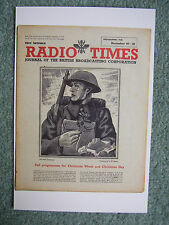 NEW Postcard Radio Times cover December 1943 Xmas card WWII World War II BBC UK