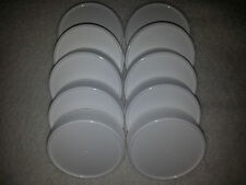 10 NEW White Plastic Mason Jar Lids with Liner Canning HIGH QUALITY ~FREE SHIP~