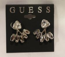 AUTHENTIC GUESS CRYSTAL EARRINGS SEPARATE EAR JACKET NEW $28