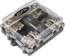 SCOSCHE-EFX SBLOCK4 Digital 4-way 0/1 gauge DISTRIBUTION BLOCK w/ 4 fuses