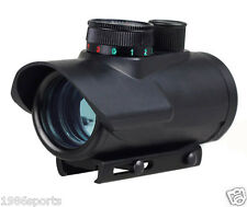 "30mm Scopes 1x30 Red/Green/Blue Dot rifle Scope Sight 3/8"" integrated rail mount"