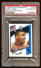 MIKE TYSON 1986 PANINI RC AUTOGRAPH AUTO PSA/DNA BEAUTIFUL SIGNATURE RARE HOF !