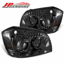 LED DUAL HALO PROJECTOR HEADLIGHTS SMOKE - DODGE MAGNUM 05-07