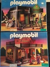 Playmobil Western Lot 3786 Sheriff's Office, 3787 Golden Nugget Saloon