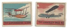 2 series 48 AVIATION R132 cards #341 Handley Page 42 #344 Supermarine Scapa
