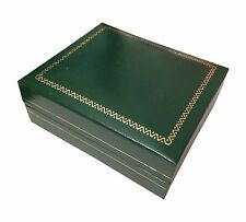 Classic Green Leatherette Necklace Gift Box Jewelry Display Organizer 2ps