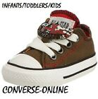 KIDS Boy Girl CONVERSE All Star GREEN RED DOUBLE TONGUE Trainers Shoes UK SIZE 9