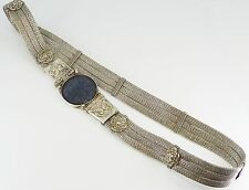 Tribal Maharashtra India Kamarpatti Indian Silver Tribal Belly Belt Lapis. NICE1
