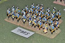 25mm seven years war brunswick musketeers 30 figures (7385) painted metal