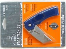 GERBER Blue Edge Rubber Handle Folding Utility Knife 31-000669 New!