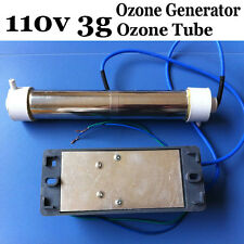 3g AC 110v Ozone Generator Ozone Tube DIY 3g/hr for WATER Plant Purifier dlt