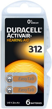 Duracell MERCURY FREE Hearing Aid Batteries Size 312 x 60 cells
