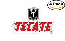 Tecate Mexican Beer Alcohol Decal Diecut Sticker 4 Stickers