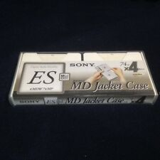 Sony 4MDW74MP 4 ES MiniDisc 74min MD Jacket Case Sealed RARE
