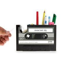 Rewind Desk Tidy Retro Cassette Tape Dispenser Office Gadget Storage New 7020