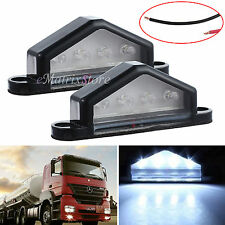 2X12V 4LED LICENSE NUMBER PLATE LIGHT TAIL REAR LAMP TRUCK TRAILER LORRY VAN CAR
