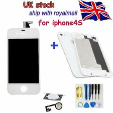 iPhone4S Replacement Front LCD Screen Digitizer  and Rear Cover+button UK