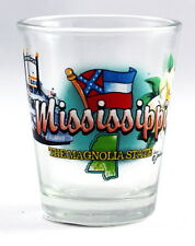 MISSISSIPPI MAGNOLIA STATE ELEMENTS SHOT GLASS SHOTGLASS