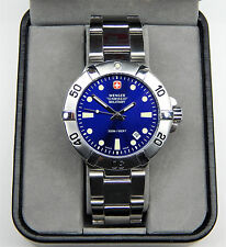 "WENGER SWISS MILITARY MENS SEAFORCE 200M DIVE WATCH 6 3/4"" inch band New battery"