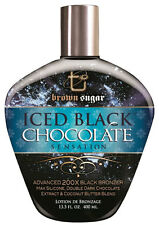 Brown Sugar Iced Black Chocolate Tanning Lotion with 200X Bronzer, 13.5oz. NEW