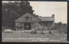 RP Postcard LAKE JAMES Indiana/IN  Pokagon State Park Horse Stables 1930's?