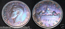 WILD TONED COLOURS .Canada 1947 SILVER Dollar - BLUNT 7