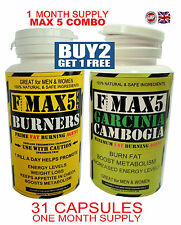 STRONGEST GARCINIA CAMBOGIA + FMAX5 FAT BURNERS WEIGHT LOSS SLIMMING DIET PILLS