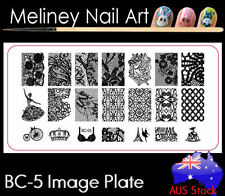 BC-05 Stamping Nail Art Image Plate Design Rectangle XL Stencil metal