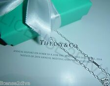 "TIFFANY & CO. T & CO. OVAL LINK PENDANT CHAIN! 18""! 925-STERLING SILVER! NEW!"