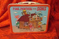 Collectible Vintage Metal Lunchbox - Pink Panther and Sons-1984-Thermos brand