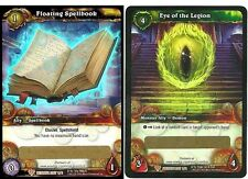 WORLD OF WARCRAFT WOW TCG : FLOATING SPELLBOOK & EYE OF THE LEGION LOOT CARDS