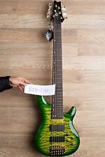 2017 Wolf KTB-6   GREEN Burst 6 String Bass