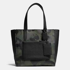 Coach Mens New York 72002 Manhattan Tote Military Wild Beast camoflage Leather