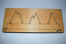 Accucut Wooden Die Border Trees BR290LC Craft Making