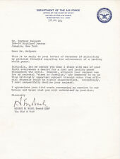 GENERAL HORACE M. WADE, U.S. AIR FORCE Vice Chief of Staff 1973 SIGNED LETTER