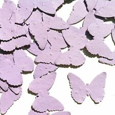 Lavender Butterfly Shaped Plantable Wildflower Seed Recycled Paper Confetti 100