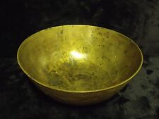 """Antique Chinese Etched Brass Dragon & Phoenix Bird Decorated Bowl SIGNED 8 1/2"""""""