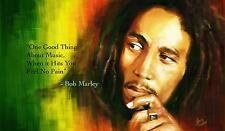 "BOB MARLEY MUSIC QUOTE Wall Art Large Canvas Picture 20""x30"""