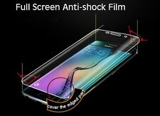 Full Front Screen Soft Protector Film cover for Samsung S7 Edge Fits Curved Edge