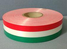 NASTRO TRICOLORE PVC LUCIDO 100 mt. x 3,0 cm DECORAZIONE FESTA PARTY