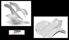 NEW HONDA TRX 250R PLASTIC WHITE CARBON FIBER FRONT AND REAR FENDER SET