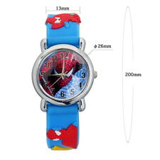 Spider Man Marvel Cartoon Child Kids Analog Quartz Wrist Watch Rubber UF